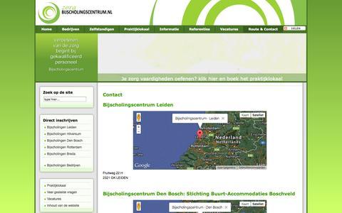 Screenshot of Contact Page bijscholingscentrum.nl - Bijscholingscentrum - Contact - captured Sept. 30, 2014