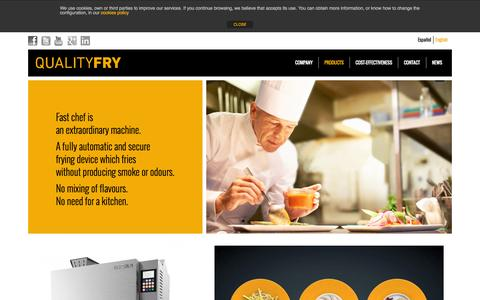 Screenshot of Products Page qualityfry.com - Fast Chef Elite QualityFry - captured Oct. 1, 2014