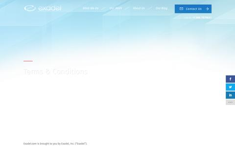 Screenshot of Terms Page exadel.com - Terms & Conditions | Exadel - captured May 23, 2017