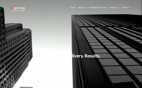 Screenshot of Home Page euphoriaworkforce.com - Euphoria Workforce Solutions - captured Nov. 11, 2016