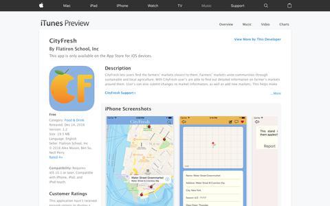CityFresh on the App Store