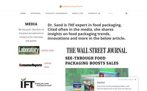 Screenshot of Press Page packagingtechnologyandresearch.com - Media - Packaging Technology & Research - captured Dec. 20, 2016