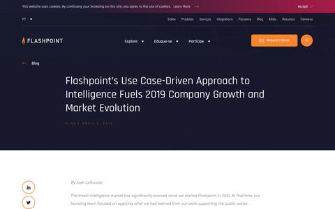 Screenshot of Case Studies Page flashpoint-intel.com - Flashpoint - Flashpoint's Use Case-Driven Approach to Intelligence Fuels 2019 Company Growth and Market Evolution - captured Nov. 12, 2019