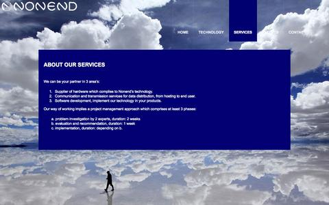 Screenshot of Services Page nonend.com - Services  |  Nonend Inventions - captured Oct. 7, 2014
