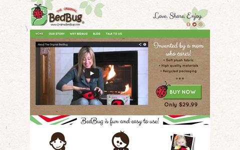 Screenshot of Home Page originalbedbug.com - The Original BedBug - captured Oct. 7, 2014