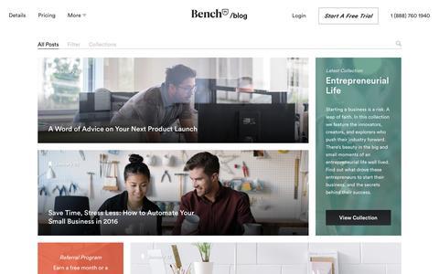 Bench — Blog