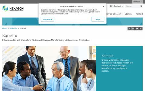 Screenshot of Jobs Page hexagonmi.com - Karriere | Hexagon Manufacturing Intelligence - captured Oct. 21, 2018