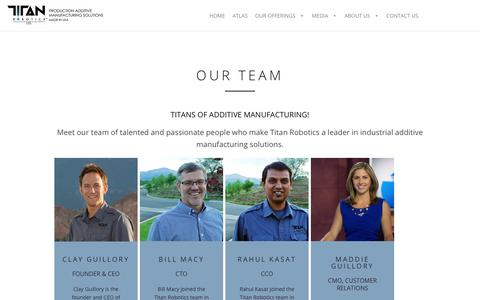 Screenshot of Team Page titan3drobotics.com - Our Team | Titan Robotics - captured June 7, 2019