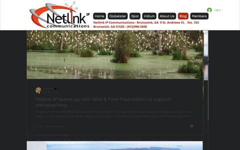Screenshot of Blog netlinkip.com - Satellite Phones, SPOT, Globalstar, Iridium, satellite Communications | Blog - captured Oct. 18, 2018