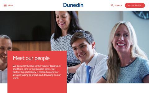 Screenshot of Team Page dunedin.com - Meet the team at Dunedin - All - Dunedin LLP - captured Oct. 9, 2018