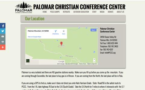 Screenshot of Maps & Directions Page pccc.org - Contact Us - captured Nov. 1, 2014