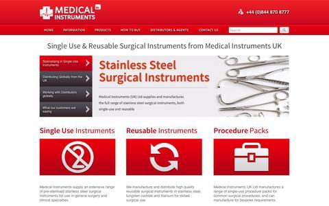 Screenshot of Home Page Site Map Page medicalinstruments.ltd.uk - Surgical Instruments by Medical Instruments UK Ltd - captured Oct. 6, 2014