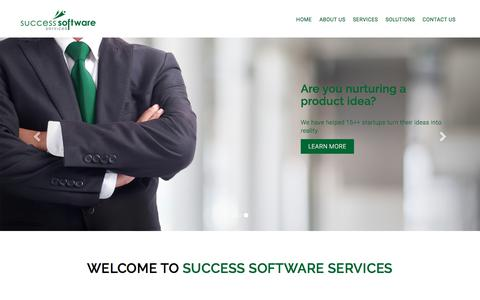 Screenshot of Home Page success-ss.com - Home | Success Software Services - captured July 5, 2018