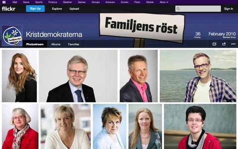 Screenshot of Flickr Page flickr.com - Flickr: Kristdemokraterna's Photostream - captured Oct. 22, 2014