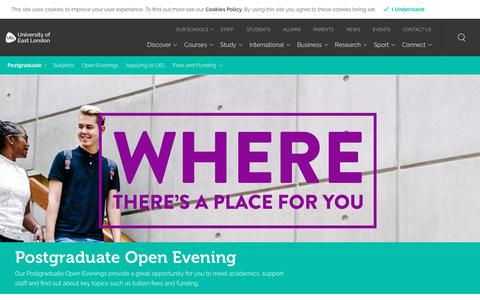 Open Evenings - University of East London (UEL)