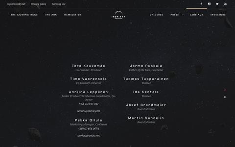 Screenshot of Contact Page ironsky.net - Iron Sky Universe | Contact_us_final - captured Oct. 15, 2017