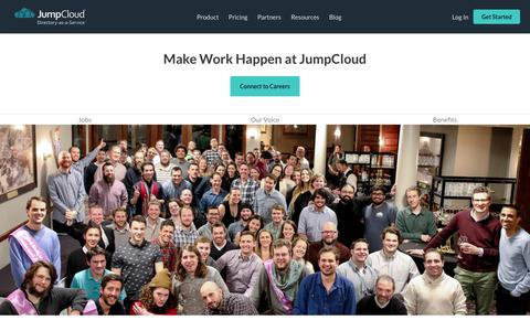 Screenshot of About Page Jobs Page jumpcloud.com - Careers - JumpCloud - captured Nov. 16, 2019