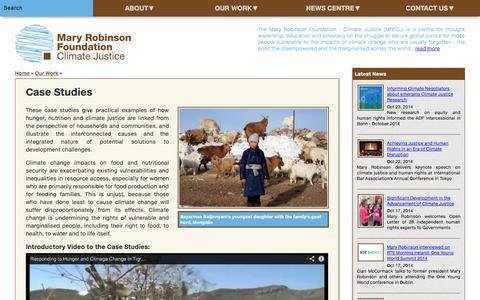 Screenshot of Case Studies Page mrfcj.org - Case Studies - Our Work - captured Oct. 27, 2014