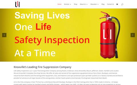 Screenshot of Home Page lsitn.com - Fire extinguisher and hood inspections Knoxville, TN - captured Jan. 29, 2016