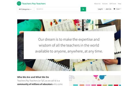 About Us | Teachers Pay Teachers