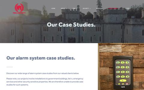 Screenshot of Case Studies Page apefireandsecurity.co.uk - Case Studies | Industry-Leading Security Systems Bristol | A.P.E Fire & Security - captured Oct. 2, 2018