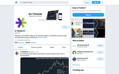 Tweets by E*TRADE (@etrade) – Twitter