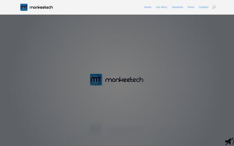 Screenshot of Contact Page Press Page monkeetech.com - Monkeetech | MonkeeTech - captured Feb. 16, 2016