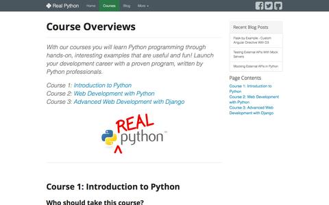 Course Overviews - Real Python