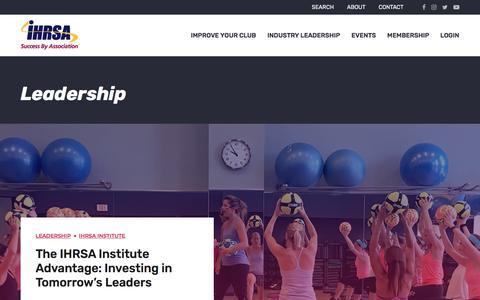 Screenshot of Team Page ihrsa.org - Leadership | IHRSA - captured July 26, 2018