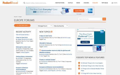 Europe Forum | Fodor's Travel Talk Forums