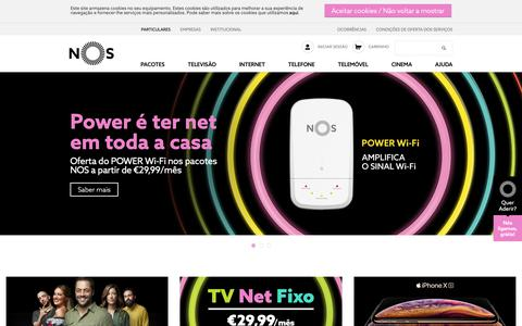 Screenshot of Home Page nos.pt - Há mais em nós - NOS - captured Oct. 19, 2018