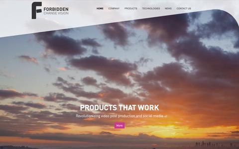 Screenshot of Home Page forbidden.co.uk - Forbidden | Change Vision - captured Feb. 10, 2016