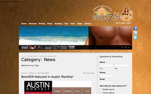 Screenshot of Press Page bronzenaustin.com - News | BronZEN Austin - captured Nov. 3, 2014