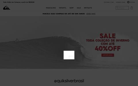 Screenshot of Home Page quiksilver.com.br - Quiksilver    A marca oficial de Surf & Snowboard desde 1969 - captured July 21, 2018