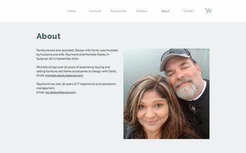 Screenshot of About Page dwcaz.com - Resale | Consign | Surprise AZ | About | Design with Cents - captured Oct. 12, 2017