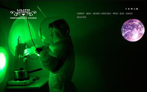 Screenshot of Home Page lilithperformancestudio.com - SELECTED | Lilith Performance Studio - captured Nov. 28, 2018