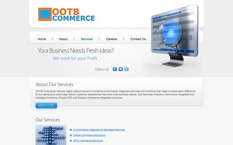 Screenshot of Services Page ootbcommerce.com - OOTB Commerce Services - captured Oct. 9, 2014