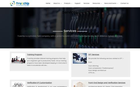Screenshot of Services Page truechip.net - Truechip - captured Oct. 20, 2018