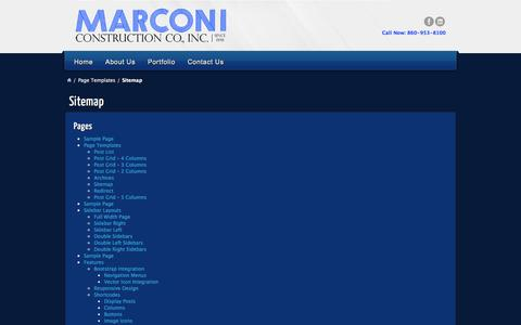 Screenshot of Site Map Page marconiconstructionco.com - Sitemap | Marconi Construction Company - captured Oct. 27, 2014