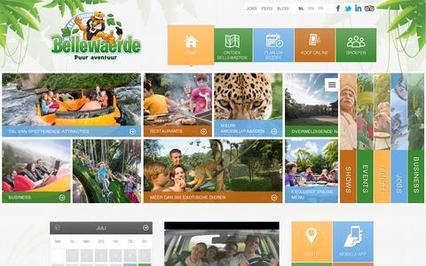 Screenshot of Home Page bellewaerde.be - Bellewaerde pretpark en attractiepark met dieren & natuur - Bellewaerde - captured July 11, 2014