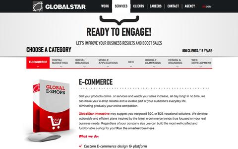 Screenshot of Services Page globalstarinteractive.com - E-COMMERCE | Globalstar Interactive - captured Sept. 19, 2014