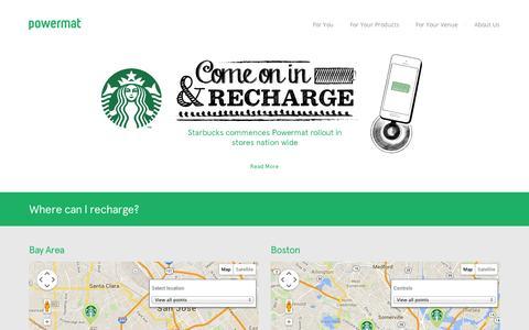 Screenshot of Locations Page powermat.com - locations - - captured Sept. 12, 2014