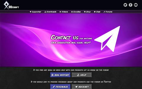 Screenshot of Contact Page bdcraft.net - Contact - BDcraft.net - captured Sept. 20, 2018