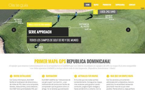 Screenshot of Home Page ola.com.do - Ola te guia, primer Mapa y GPS de Republica Dominicana. Compras tu mapa por tu GPS Garmin - captured Oct. 7, 2014