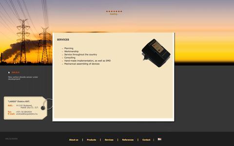 Screenshot of Services Page largoelektro.com - Largo Elektro - captured Oct. 1, 2014