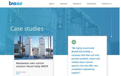Screenshot of Case Studies Page bioairsolutions.com - Case Studies Archive - BioAir - captured Oct. 5, 2018