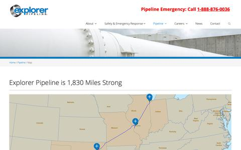 Screenshot of Maps & Directions Page expl.com - Pipeline-Map - captured Sept. 30, 2018