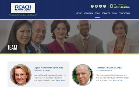 Screenshot of Team Page rhcmemphis.com - Reach Human Capital: Team - captured Oct. 26, 2017