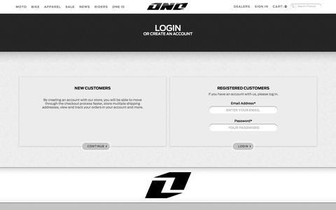 Screenshot of Login Page oneindustries.com - Customer Login - captured Oct. 26, 2014