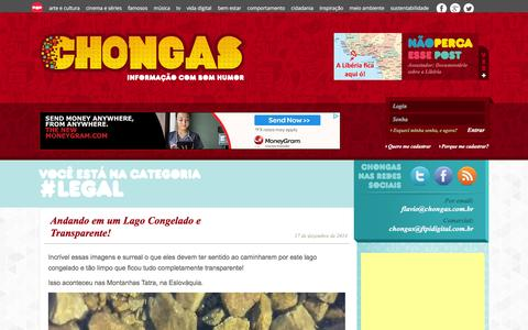 Screenshot of Terms Page chongas.com.br - Legal Archives - Chongas - captured Feb. 18, 2016